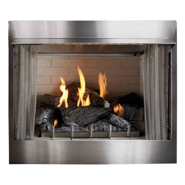 "Empire - Deluxe 36"" Vent-Free Firebox - Stainless Refractory Liner - 36 Vent-Free Firebox Deluxe in Stainless with Refractory Liner. Finish: Stainless Size: 36 Weight: 150. These items are considered a special order and cannot be cancelled or returned unless damaged."