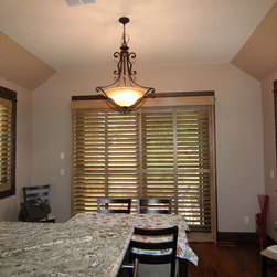shutters for sliding door Parker residence - Colorado Shade and Shutter
