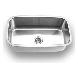 YOSEMITE HOME DECOR - Yosemite Home Decor MAG3118 18-Gauge Stainless Steel Undermount Kitchen Sink - These high quality Yosemite sinks are a heavy gauge, type 304 (18/8), surgical grade, stainless steel for maximum durability - 18-Percent chromium (for shine) and 8-Percent nickel (for rust resistance). Stainless steel is an extremely durable surface; it can, however, be scratched or scuffed. When scuffing does occur, please remember that this is normal and the effect will become uniform with age. The high quality stainless steel does not lose its attractive shine.