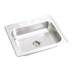 Elkay - New Stainless Steel Sink 25 X 22 X 6 Satin - Self-Rimming, One Piece Design