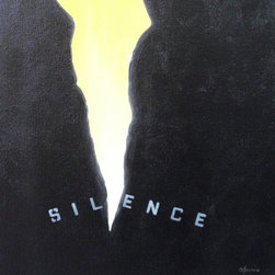 Expose Artwork - It is said 'silence is golden,' 'silence is a great source of strength' and 'silence is the most powerful scream.' Each of these phrases rings true in this artistic depiction of a struggle between silence and revelation. Framed and signed by artist Sharis Dejaynes, this original painting makes itself heard!