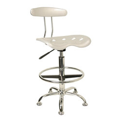 Flash Furniture - Flash Furniture barstools Plastic Residential Barstools X-GG-REVLIS-512-FL - Quality chair at an amazingly affordable price! This sleek, modern stool conforms to several areas in the home or office. The molded tractor seat offers great comfort. The height adjustable capability of this stool allows you to use the stool at the dining table and bar table and anywhere in between. [LF-215-SILVER-GG]