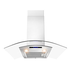 "AKDY - AKDY AK-ZD01R Euro Stainless Steel Wall Mount Range Hood, 30"" - The strength and durability of stainless steel meets the elegance of professional European design in this 30"" wall mounted range hood from AKDY. This includes an ultra quiet 760 CFM centrifugal blower, telescopic chimney that fits ceilings measuring between 8 and 8.5 feet, four-speed electronic touch sensitive controls with display, and a dishwasher friendly stainless steel baffle filter. With the delayed auto shut off, two 35w halogen lights and an optional ductless feature, and you'll discover ease of use you'll quickly fall in love with. High style, professional functionality, and a cost you can afford. AKDY once again delivers on its promise of excellence."