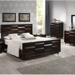 None - HamptonAntique Mahogany  Queen Bed - The Hampton queen bed is a must have for your master bedroom. Designed with plenty of style for small and large bedrooms alike,the bowed design on the headboard creates a unique wave pattern creating a striking yet classic look.