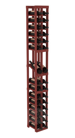 2 Column Display Row Cellar Kit in Pine with Cherry Stain - Make your best vintage the focal point of your wine cellar. High-reveal display rows create a more intimate setting for avid collectors' wine cellars. Our wine cellar kits are constructed to industry-leading standards. You'll be satisfied. We guarantee it.