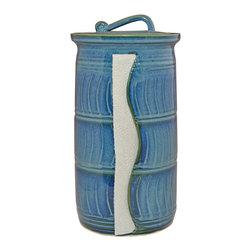 Unique Paper Towel Holders - Glaze Color - Xavier Blue