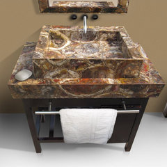 eclectic bathroom sinks by Madagascar Minerals