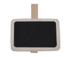 "Enchante Accessories Inc - Sheffield Home Clip on 2"" x 2"" Wooden Chalkboard Signs, Set of 8, Natural - When you need a way to organize or label items in storage bins or on shelving units, this set of 8 mini clip on chalkboard signs lets you do it with casual style.  With a charming, rustic feel, these chalkboard signs can be used to mark and identify items inside storage bins, label pantry shelves, differentiate between baskets of flowers or herb garden pots, or hold recipes, photos, or other important papers together."
