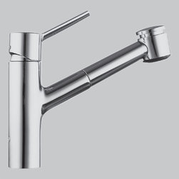 KWC - KWC Luna 10.211.033 - KWC Luna Single Hole, Single Lever Kitchen Mixer with Swivel Spout and Pull Out Spray - 10.211.033