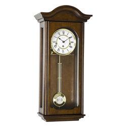 HERMLE - Hermle Brooke Mechanical Regulator Wall Clock - Antique Walnut Finish - Antique Walnut finish regulator is made with select hardwoods and veneers