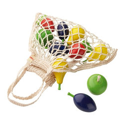 Haba - Haba Fruit Shopping Net Multicolor - 3842 - Shop for Games & Puzzles from Hayneedle.com! Any play chef worth their salt is going to have plenty of faux fruit in case of an emergency tea party of last-minute breakfast buffet for a hungry wagonload of stuffed animals so they'll always be ready with the Haba Fruit Shopping Net. Inside a net-style shopping bag is a full selection of solid beech fruits that include three pears two apples two strawberries and two plums. Each piece is finished with a non-toxic water-based stain.About HABAIn 1938 HABA began manufacturing finely polished wooden toys in Germany. Today these blocks and toys are still an important part of the HABA product line but the company has expanded to produce a wider variety of inventive playthings for inquisitive minds. From games and jewelry to tableware and rugs HABA products are known for innovative design and attention to detail. HABA toys support children's development and foster the spirit of discovery. HABA products undergo rigorous testing under European guidelines. They've won numerous Children's Game of the Year awards and look to continue their legacy of innovative exciting design for kids around the globe.