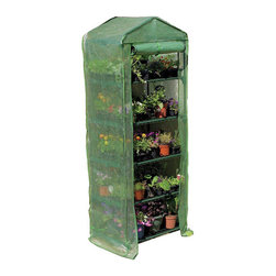 None - Mini Greenhouse 4-tier Growhouse with Heavy Duty Cover - Perfect for limited spaces,this growhouse features a heavy duty cover for reinforced protection against imperfect weather conditions. This 4-tier mini greenhouse provides amble shelving for growth.