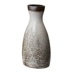 Lazy Susan - Lazy Susan LZS-857057 Rustic White Watering Jug - Large - You don't see many water bottles like this these days! Exquisite in its rustic style, this water jug is an elegant way to add texture and visual interest to your style. Organic lines and a deeply patinaed white surface make this piece a versatile addition to both contemporary eclectic and rustic homes.