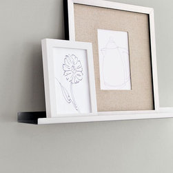 Metal Picture Ledge - Metal wall ledges allow you to display several prints without making holes in the wall. It's also easy to change your art when the mood strikes.