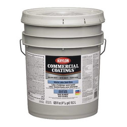 SHERWIN WILLIAMS - Exterior Latex Paint Semi Gloss White Base 5G - Krylon - Better quality interior latex paint is a durable, professional vinyl acrylic paint ideal for use on primed plaster, wallboard, masonry and primed metal.