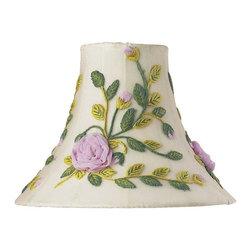 Jubilee Collection - Medium Shade - Rose Net Flower - Multi - Material: silk, metal. 4 x 10 x 8 in.