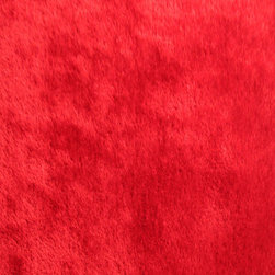 Rug - Authentic Solid Red Shaggy Hand-tufted Area Rug, Red, 2 X 3 Ft, Solid, Red - Living Room Hand-tufted Shaggy Area Rug Door Mat