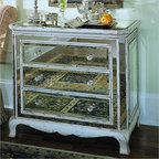 Hooker Furniture Chanterery Three Drawer French Mirror Chest - Features: