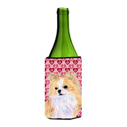 Caroline's Treasures - Chihuahua Hearts Love Valentine's Day Portrait Wine Bottle Koozie Hugger - Chihuahua Hearts Love and Valentine's Day Portrait Wine Bottle Koozie Hugger SS4473LITERK Fits 750 ml. wine or other beverage bottles. Fits 24 oz. cans or pint bottles. Great collapsible koozie for large cans of beer, Energy Drinks or large Iced Tea beverages. Great to keep track of your beverage and add a bit of flair to a gathering. Wash the hugger in your washing machine. Design will not come off.