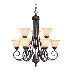 Savoy House - Savoy House 1P-5591-9 Legend 9 Light Chandelier - Features: