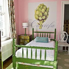 eclectic bedroom by Casart Coverings