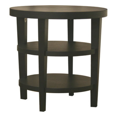 Baxton Studio - Baxton Studio Charleston Modern Black Wood End Table - Add this simple, contemporary side table to your living room or office for an easy, stylish way to complete any seating area. Constructed with MDF wood with a black oak veneer, each Charleston Table is sturdy and features two lower shelves for maximum storage. This design is also available as a coffee table and sofa / console table. Assembly is required.