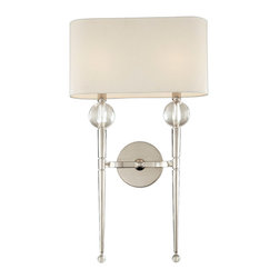 Hudson Valley Lighting - Hudson Valley Lighting 8422-PN Rockland 2 Light Wall Sconces in Polished Nickel - This 2 light Wall Sconce from the Rockland collection by Hudson Valley Lighting will enhance your home with a perfect mix of form and function. The features include a Polished Nickel finish applied by experts. This item qualifies for free shipping!