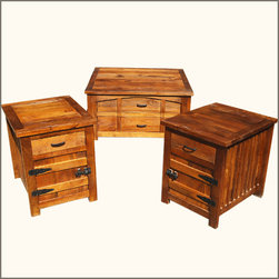 Teak Wood 3pc Double Drawer Coffee Cocktail Table & End Table Set - Manufacturing details