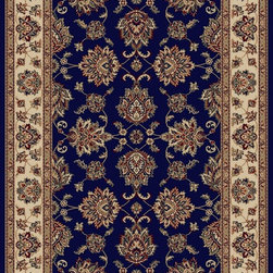 "Radici USA - Traditional Vesuvio 3'3""x4'11"" Rectangle Navy Area Rug - The Vesuvio area rug Collection offers an affordable assortment of Traditional stylings. Vesuvio features a blend of natural navy color. Machine Made of Olefin the Vesuvio Collection is an intriguing compliment to any decor."