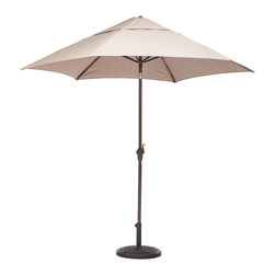 ZUO VIVA - South Bay Umbrella Beige - Enjoy a refreshing cocktail in the shade with the South Bay Table Set. The umbrella is UV and water resistant fabric.