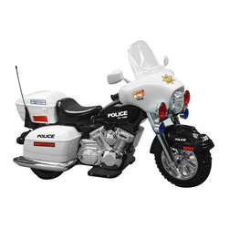 National Products - Kid Motorz Police Motorcycle Battery Powered Riding Toy Multicolor - 0958 - Shop for Tricycles and Riding Toys from Hayneedle.com! It's time for some toddler street justice with this 12V Battery Operated Police Motorcycle and its working sound and lights. Children are going to love the hand accelerator parents are going to love the 2 and 4 MPH speeds and one 2 MPH reverse speed. Expect years of fun and photo opportunities with this one. Includes a battery and charger.About National ProductsAs recognized by peers National Products company is both a reputable and reliable working partner as well as supplier in the toy and ride-on industry. Most importantly not just children have fun with National Products ride-on products; parents also appreciate the detailed life-like quality and safety of the innovative designs. National meets or exceeds all safety/quality control government guidelines.