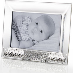 """Waterford - Waterford """"Lismore Essence"""" Frame - Sized perfectly for display on a desk or mantel, this dazzling horizontal frame features Lismore's signature diamond and wedge cuts to accent treasured memories in a dramatic way. Imported. Made of crystal. Holds a 4"""" x 6"""" photograph. 9.2""""W x 2.2""""D x 7.2""""T. From Waterford®."""