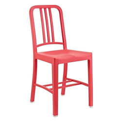 Modway - Navy Dining Side Chair in Red (Set of 2) - EEI-219-RED - Navy Collection Side Chair