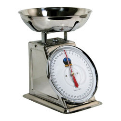 Buffalo Tools - 44 lb. Dial Scale - Perfect for weighing meats or vegetables for packaging or for ensuring the proper weights of oils and water for soap making or other precise projects, this dial scale will be a treasured addition to any kitchen tool collection. The unit has a stainless steel bowl and a stainless steel body for long lasting durability and function. If you're prepping meat for processing or just weighing out portions. This scale ensures you get the exact amount every time. Stainless steel tray. Max capacity: 44 lbs. (20 kgs.)