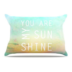"""Kess InHouse - Alison Coxon """"You Are My Sunshine"""" Pillow Case, King (36"""" x 20"""") - This pillowcase, is just as bunny soft as the Kess InHouse duvet. It's made of microfiber velvety fleece. This machine washable fleece pillow case is the perfect accent to any duvet. Be your Bed's Curator."""