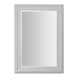Uttermost - Uttermost 14600 Salima Distressed White Mirror - Lightly Distressed White Wash Finish w/ Rustic Black Undertones