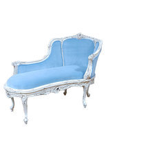 Traditional Indoor Chaise Lounge Chairs by Feathers Custom Furnishings