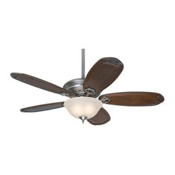 Hunter - Hunter Teague Ceiling Fan in Antique Pewter - Hunter Teague Model HU-28793 in Antique Pewter with Hand Carved Solid Wood Blackened Pecan Finished Blades.