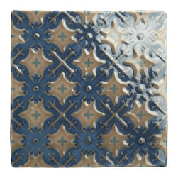 Products - This tile is by Winchester tile and is the Villette on Truffle .  Beautiful decorative accent tiles that can be used for the entire area or inserted as accents throughout the backsplash.  Why not mix the patterns to create your own personal colors and style.