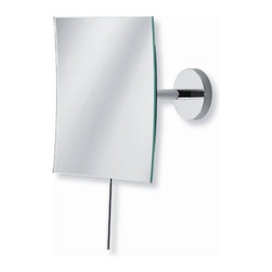 "WS Bath Collections - Mirror Pure 6.1"" Mevedo Wall Mount Make Up Magnifying Mirror in Polished Chrome - Collection Mirror pure by WS Bath collections; fine, unique, and innovative, make-up and shaving mirrors, made to the highest standards of stainless steel and high-quality materials, long lasting construction, in perfect crafted workmanship. Enjoy yourself with mirror pure Features: -Magnifying glass. -Mirror Pure collection. -Stainless steel construction. -Wall mount. -Flexible arm. -Arm can be used to move the mirror up, down, left, and right and can turn the mirror angle about 15 degrees. -Made in Italy. Specifications: -Manufacturer provides One Year warranty against defects in workmanship, materials, or operation, excluding ordinary wear and tear. -Overall dimensions: 6.1"" H x 6.1"" W."