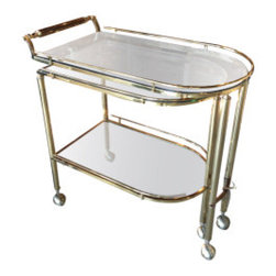 Brass Trolley or Tea Cart - This sleek, midcentury, brass tea cart would make the ultimate bar service. I have a Lucite version in my dining room, and it's always stocked and ready to roll.