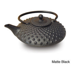 Old Dutch - Old Dutch Tetsubin Cast Iron Amity 26-ounce Teapot - The heat-retaining properties of cast iron allow the tetsubin teapot to keep tea at the proper serving temperature for up to an hour. Porcelain enamel interiors keep the taste of the tea pure and allow for easy cleaning.