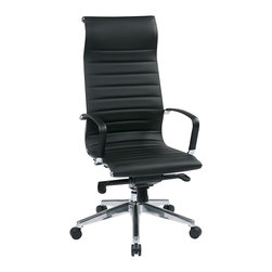 IFN Modern - Eames High Back Chair with Head Rest in Black - This office chair offers great comfort with its built in head rest and design. Comes with many features it will be perfect for any office environment.