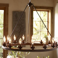 Stanton Leaf Cup Chandelier | Pottery Barn