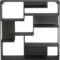 Industrial Metal Wall Mounted Bookcase - I love this wall-mounted bookshelf. It can be used to create a unique art or book wall. I'd put two or three in a row for a spin on the traditional bookshelf.