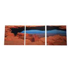 Canyon 3 Piece Canvas Art - Beautiful 3 piece canvas art.