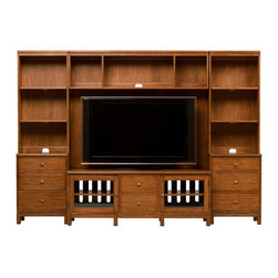Ethan Allen - Hawke Media Center - Casual relaxation. The Hawke modular system of interchangeable pieces delivers versatility and livability.