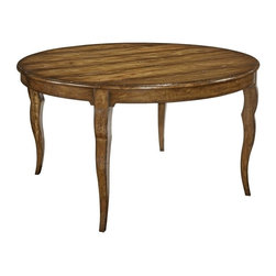 EuroLux Home - New Round Planked Top Dining Table Acacia - Product Details
