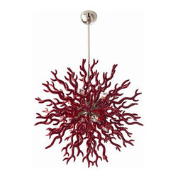 Arteriors Home - Arteriors Home Diallo Red Chandelier, Large - Arteriors Home 89984 - With the same precise yet unbridled beauty that nature renders coral, this exquisite piece can give your home. Each sprig is coated in a smooth lacquered resin. This dramatic lighting fixture is left to linger in your guests hearts and minds.