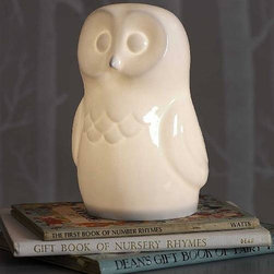 Bone China Owl Light By Nestgifts - This bone china owl light is great for both the young and young-at-heart.